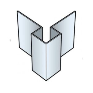 Eternit Cedral Click buitenhoek 20x20x3000mm C07 Roomwit