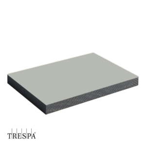 TRESPA® A0340 enkelzijdig 3650x1860x6mm Zilver Grijs Satin
