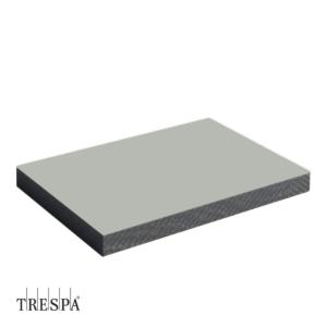TRESPA® A0340 enkelzijdig 3050x1530x8mm Zilver Grijs Satin