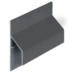 Keralit 2810 Antraciet trim/kraal aansluitprofiel 17mm