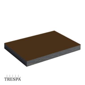 TRESPA® A0881 enkelzijdig 2550x1860x6mm Donkerbruin Satin