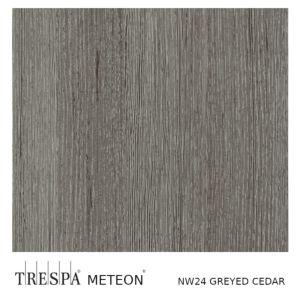 TRESPA® WOOD DECORS NW24 Greyed Cedar  13mm 365x186cm Enkelzijdig Mat