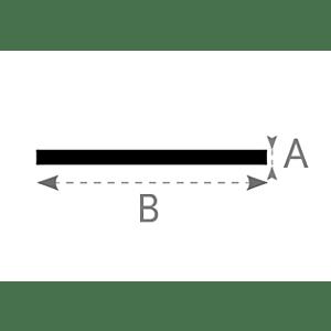 Voegband horizontaal 4,5cm 250cm