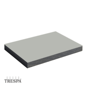 Trespa A0340 enkelzijdig 3650x1860x6mm Zilver Grijs Satin