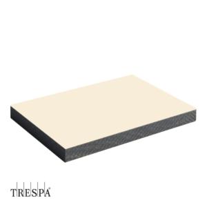 TRESPA® A0510 enkelzijdig 3050x1530x6mm Papyrus Wit Satin