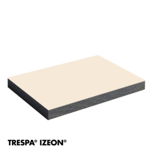 Trespa Izeon RAL 9001 enkelzijdig 305x153cm Creme Wit